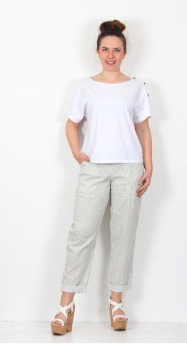 Oska Clothing Trousers Ellin 034 wash Hay