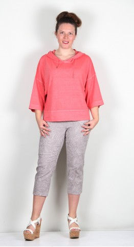 Oska Clothing Pullover Noora 131 Cherry / Hemp-Organic-Cotton-Blend.