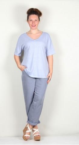 Oska Clothing Shirt Palmy 112 / Hemp-Organic-Cotton-Blend Aura