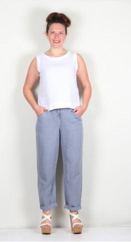 Oska Clothing Trousers Lovys 126 Aura / Lyocell-Linen-Blend
