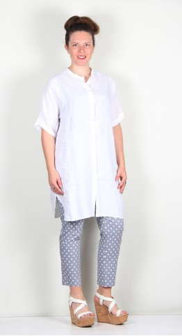 Oska Clothing Blouse Liska 125 White / Irish Linen