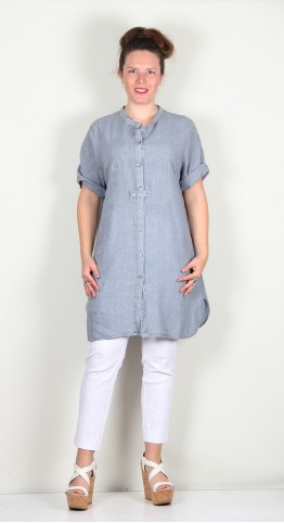 Oska Clothing Blouse Liska 125 Aura / Irish Linen