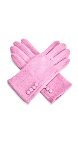 Pink Rooster Button Gloves Clover