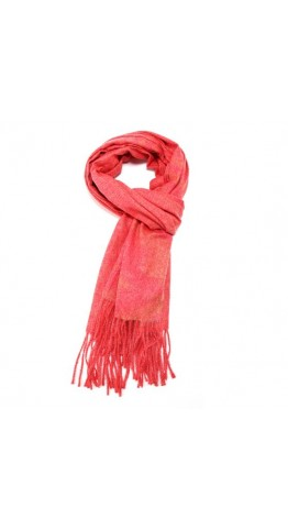 Pink Rooster Heather Marl Scarf Pomegranite