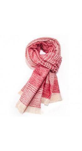 Pink Rooster Fine Stripes Scarf Scarlet