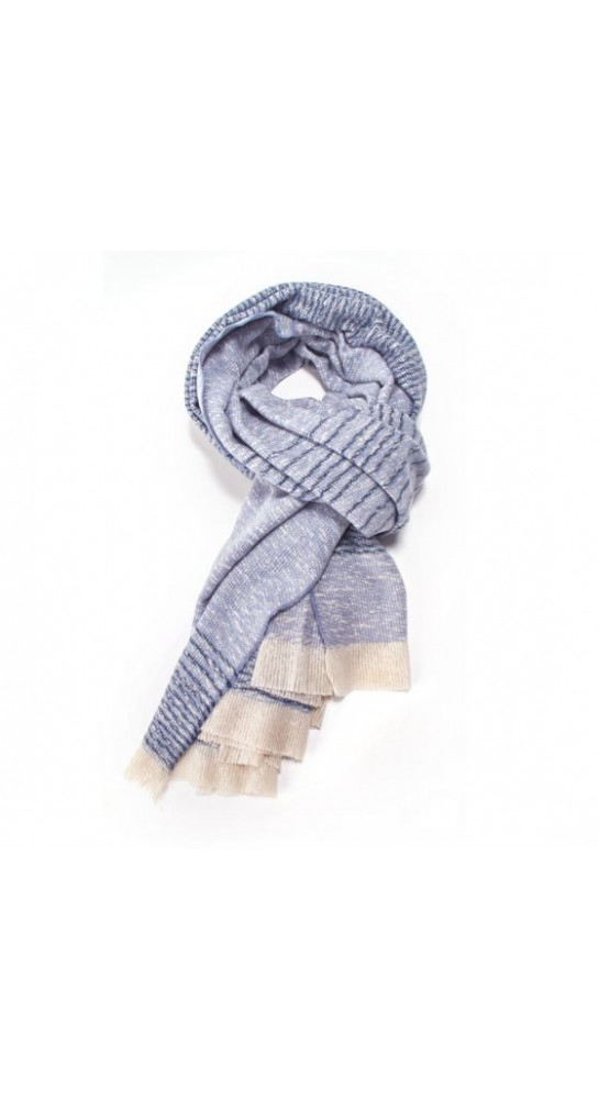 Pink Rooster Fine Stripes Scarf Denim