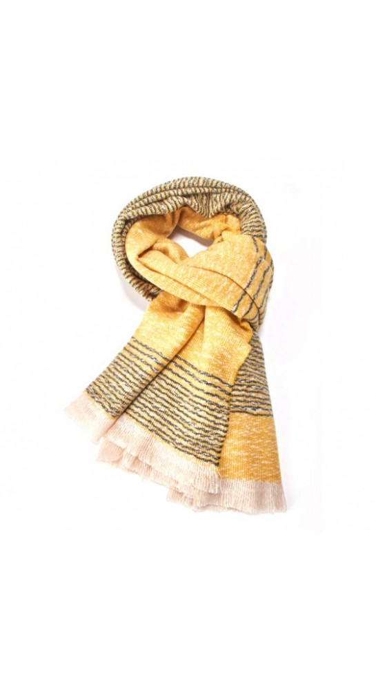 Pink Rooster Fine Stripes Scarf Pollen