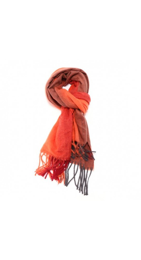 Pink Rooster Gradient Stripe Scarf Orange