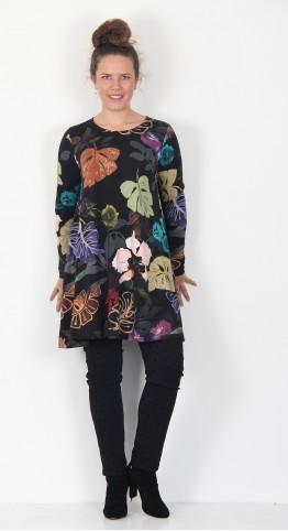 Q-Neel Veronica Tunic Black Print