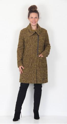 Q-Neel Boucle Zip Coat Gold Tweed