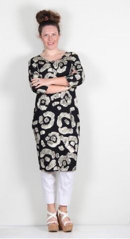 Q-Neel Jersey Tunic/Dress Black Stone