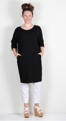 Q-Neel Jersey Tunic/Dress Black