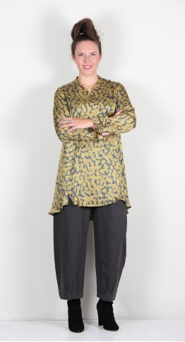 Q-Neel Annabelle Tunic Old Gold