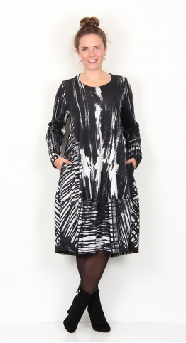 Ralston Bimse Paint Dress Black Ecru
