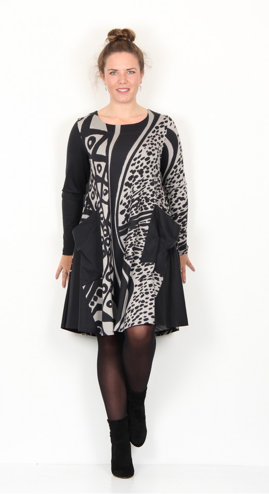 Ralston Stara African Tunic/Dress Black