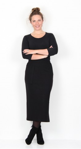 Ralston Effie Jersey Skirt Black