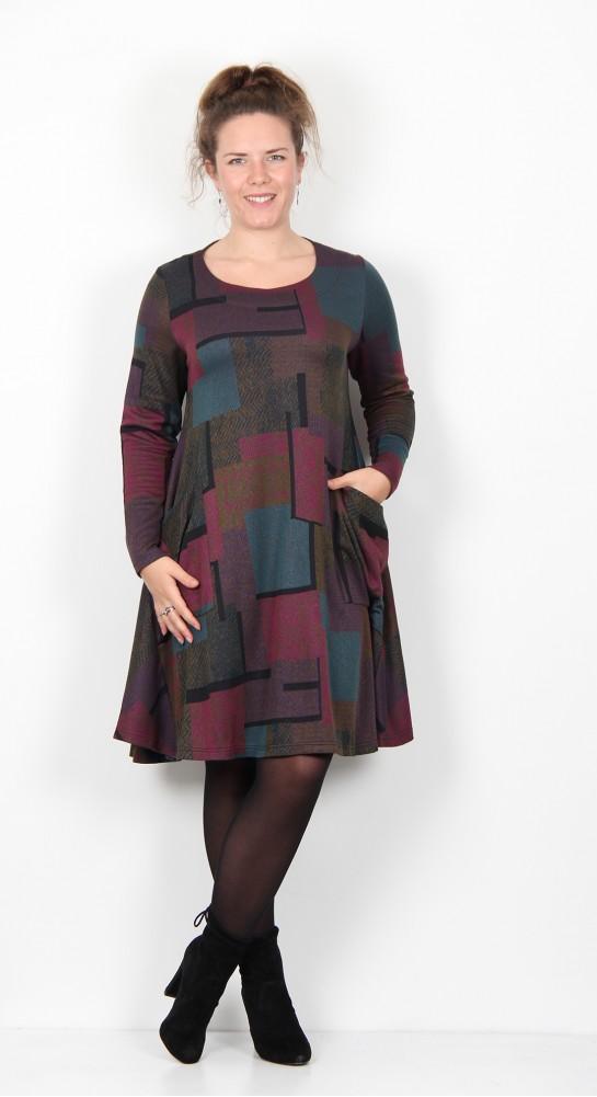 Ralston Stara Geometric Tunic/Dress Green Tweed