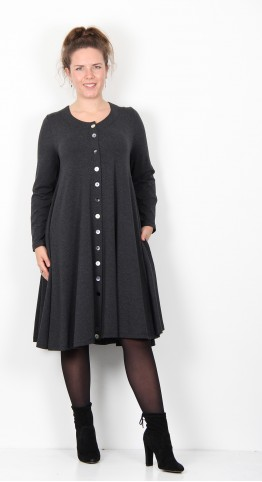 Ralston Celia Button Coat Dress Anthracite