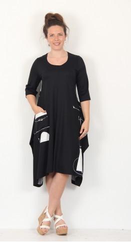 Ralston Tatsu Dress Black White