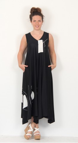 Ralston Dany Sleeveless Dress Black White