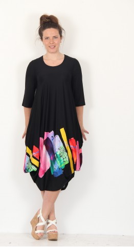 Ralston Utas Paint Dress Black Multi