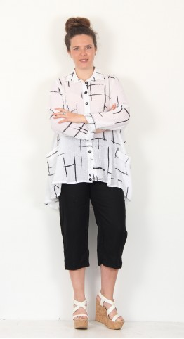 Ralston Wally Shirt/Jacket Black/White