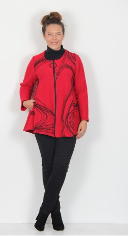 Ralston Tavia Swirl Jacket Red