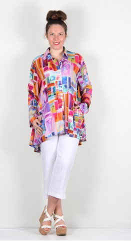 Ralston Wally Shirt/Jacket Multi Geometric Abstract