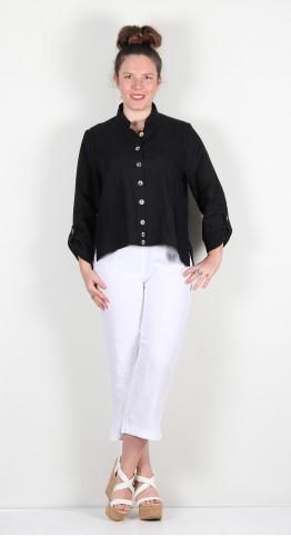 Ralston Anandi Linen Shirt Jacket Black