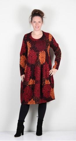 Ralston Stretch Cotton Flower Print Bimse Dress Autumn