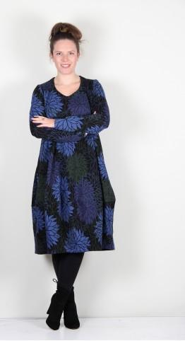 Ralston Stretch Cotton Flower Print Bimse Dress Winter Blue
