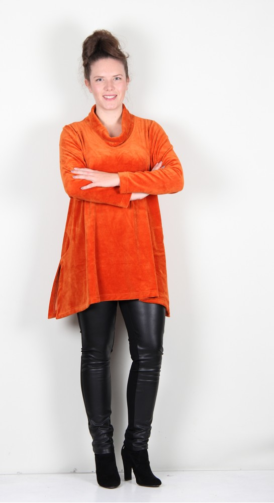 Ralston Tiia Velvet Top Burnt Orange