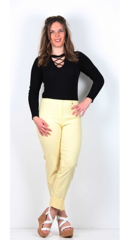 Robell Trousers Bella 7/8 Cropped Trouser Vanilla