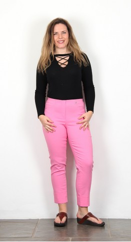 Robell Trousers Bella 09 Cuff 7/8 Crop Hot Pink