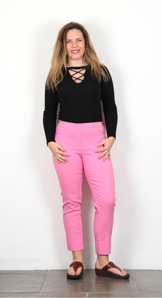 Robell Trousers Bella 09 Cuff 7/8 Crop Hot Pink