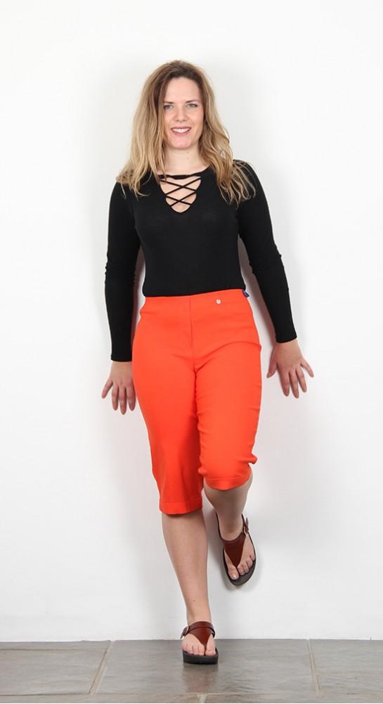 Robell Trousers Bella 05 Shorts Orange