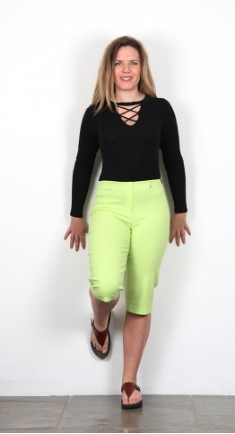 Robell Trousers Bella 05 Shorts Lime