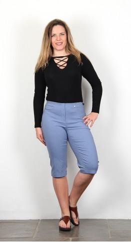 Robell Trousers Bella 05 Shorts Light Denim