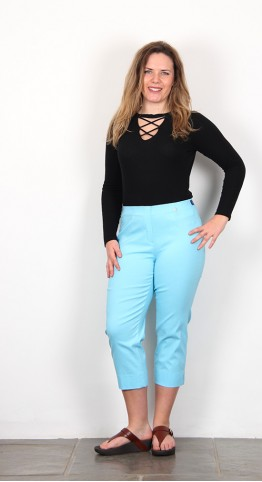 Robell Trousers Marie 07 Capri Turquoise