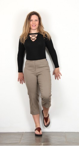 Robell Trousers Marie 07 Capri Taupe