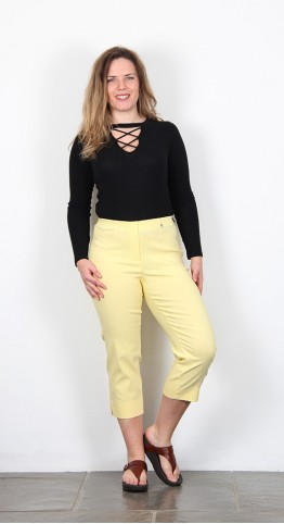 Robell Trousers Marie 07 Capri Lemon