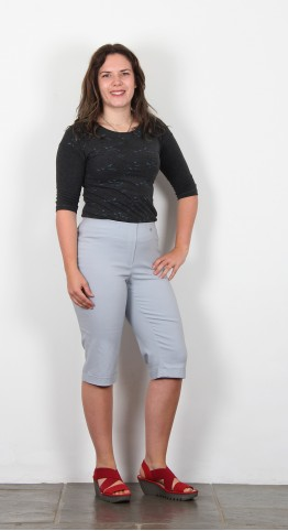 Robell Trousers Bella 05 Shorts Grey