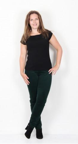 Robell Trousers Bella Fine Cord Emerald