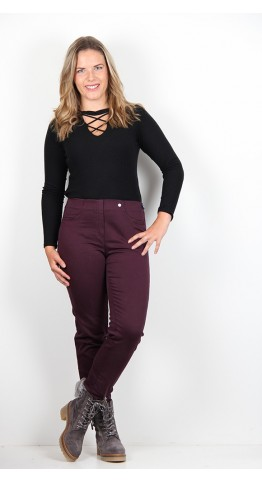 Robell Trousers Bella Slim Fit Jean Plum
