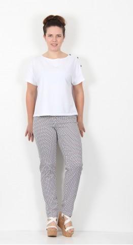 Robell Trousers Bella Full Length Navy Lemon