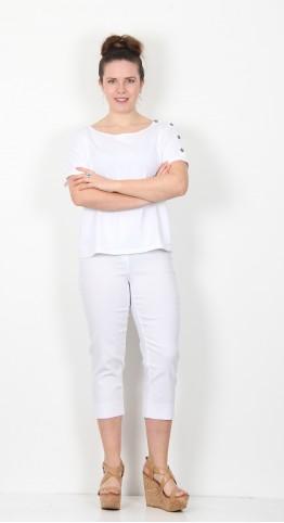 Robell Trousers Marie 07 Capri White