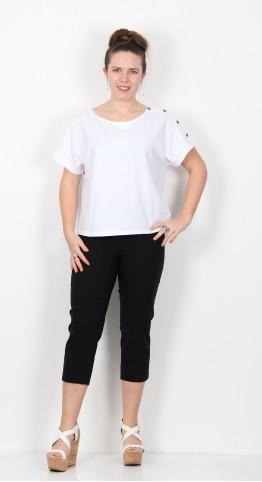 Robell Trousers Marie 07 Capri Black