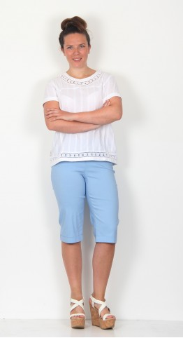 Robell Trousers Bella 05 Shorts Light Blue