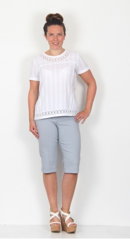 Robell Trousers Bella 05 Shorts Mid Grey