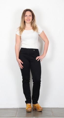 Robell Trousers Bella Slim Fit Jean Black Denim